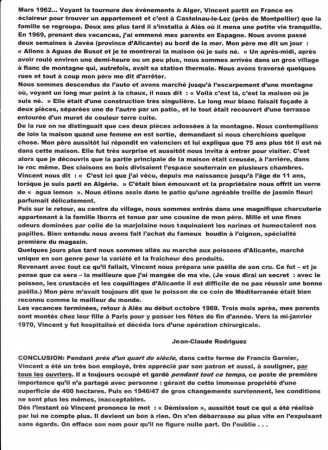 Mars 1962 - Nouvel Exode  CASTELNAU-LE-LEZ  puis  ALES
