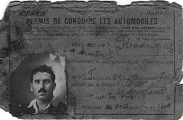Vincent RODRIGUEZ en 1926  30 ans Il entre au Service de Camille BORTOLOTTI