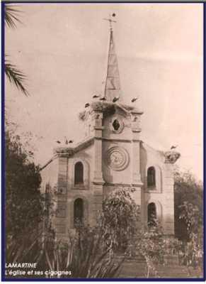 LAMARTINE L'Eglise et ses cigognes
