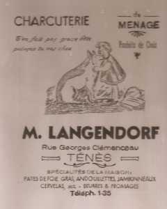 Affiche de la Charcuterie LANGENDORF