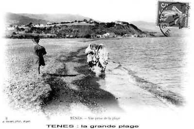 La plage en 1910