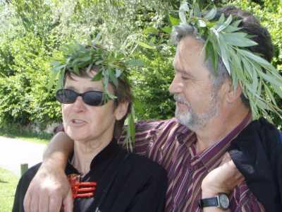Malou BEAUSSIER et son mari Claude SANCHEZ ----  En voyage