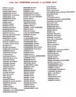 Liste des 136 TENESIENS pr�sents aux Retrouvailles 2013