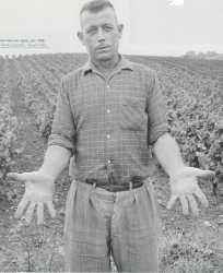 Juin 1958 Un colon sur ses terres