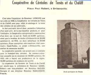 La COOPERATIVE de CEREALES de TENES et du Cheliff
