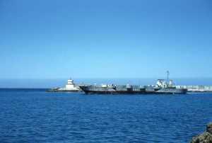 Tanker dans le port de TENES