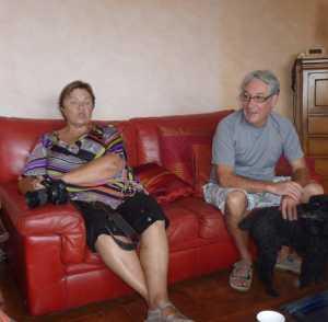 Septembre 2010 chez Alain DI MEGLIO ---- Lucette LEVITA et Gilbert LEVITA