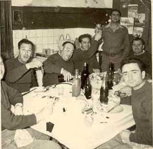 1959 ---- SICARDI Gilbert LEVITA Jean GRACIA Serge SEROR (debout) Jean-Pierre BERGONZOLI Paul CACCIUTTOLO (fils)
