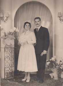 2 decembre 1958 - CHAMPCLAUSON (30) Francis LOPEZ et Charlette AMBROSINO-BOUDON