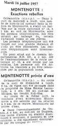 MONTENOTTE - 16 Juillet 1957