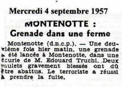 MONTENOTTE - 4 Septembre 1957