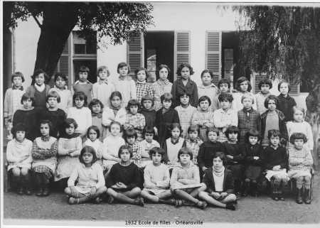 1932 - ORLEANSVILLE Ecole des Filles