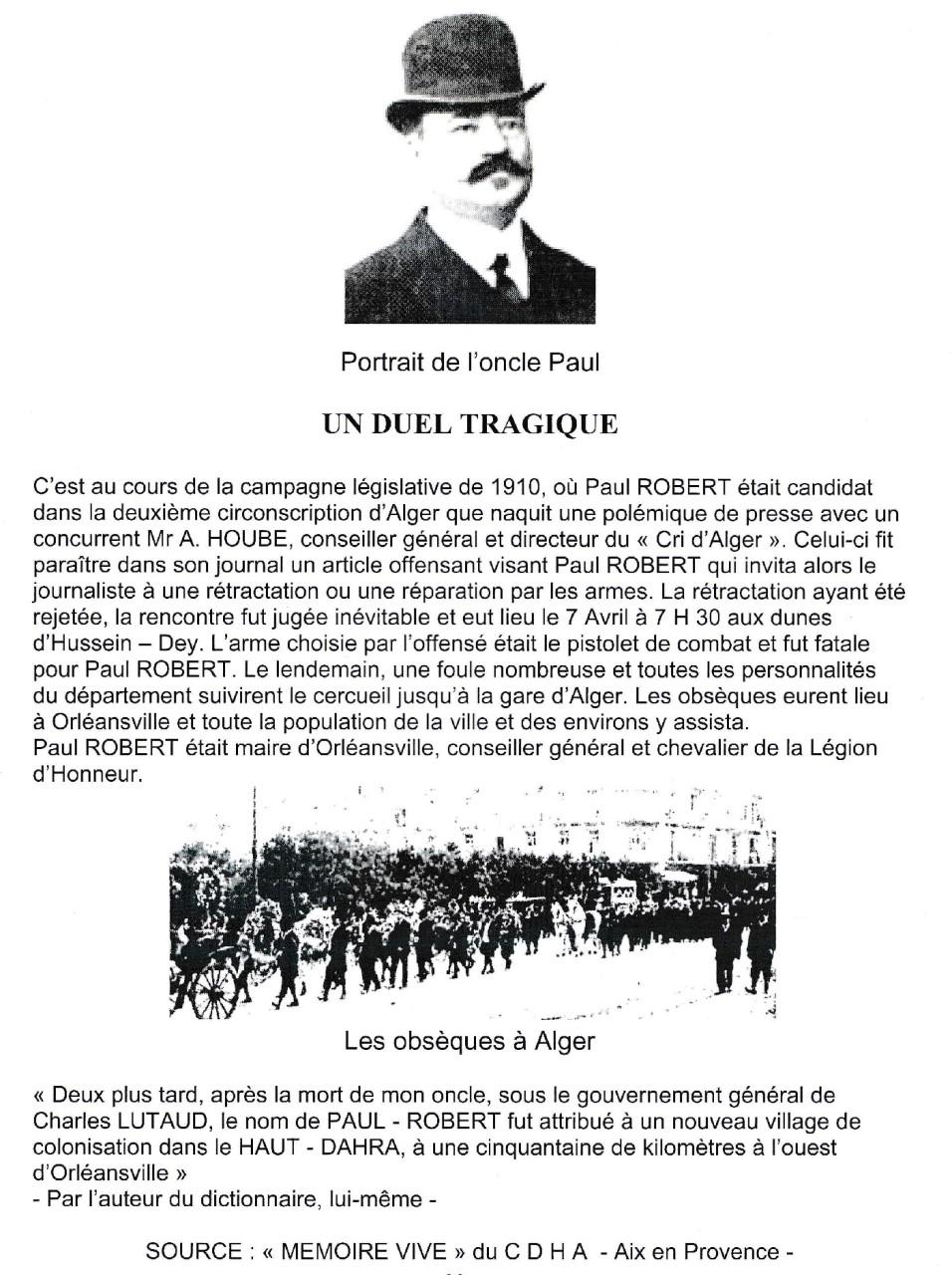 Le Duel Tragique de PAUL-ROBERT