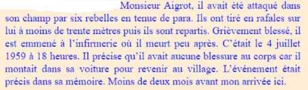 PAUL-ROBERT La mort du Maire Mr AIGROT
