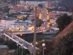 TENES  Pont et route d'Alger le soir