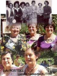 DUVAL GASSIER Georgette ROSTOLL Marcelle ROSTOLL Lulu ROSTOLL Lucette LEDESMA AUTHIE
