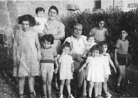 1951 Les Grands Parents LANGENDORF avec leurs petits enfants  LANGENDORF Marius Ferdinand et PIACENTILE Jeanne Louise