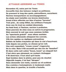 """ATTAQUE AERIENNE sur TENES"" ---- Lucien LUBRANO"