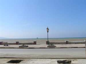 devant la plage