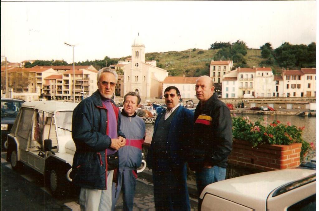 COLLIOURE - 1994 ---- Pierre ANTOMORI Marcel BERGONZOLI Louis XICLUNA Daniel RAUD