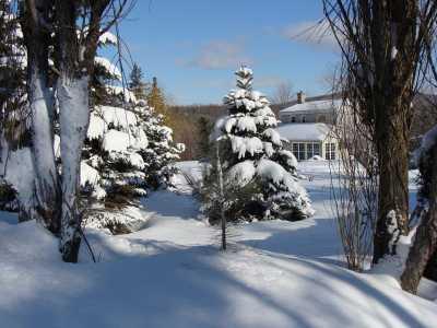 ma maison au Canada ... en hiver