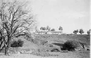 SAS de CAVAIGNAC vue de l'oued Le poste des Moghanis