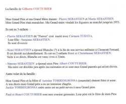 Famille SEBASTIEN  Par Gilberte COUTURIER