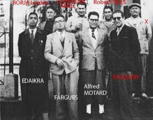 EDAIKRA Brahim (dcd) FARGUES Alfred MOTTARD FALQUERY BORJA Loulou (dcd) LAMARQUE Alexis (dcd) Robert SILES (dcd) COSTA