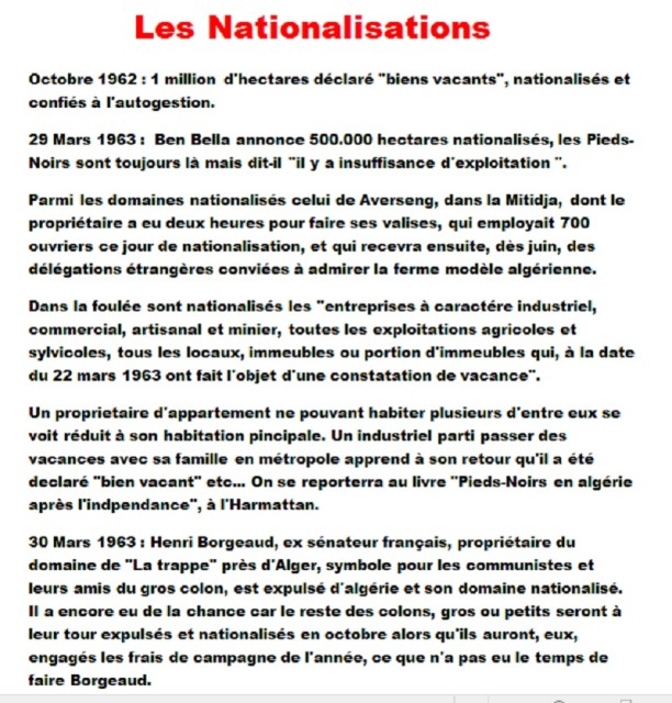 Les Nationalisations