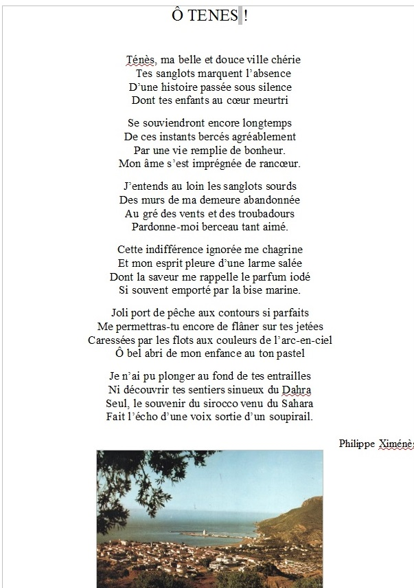 O TENES de Philippe XIMENES