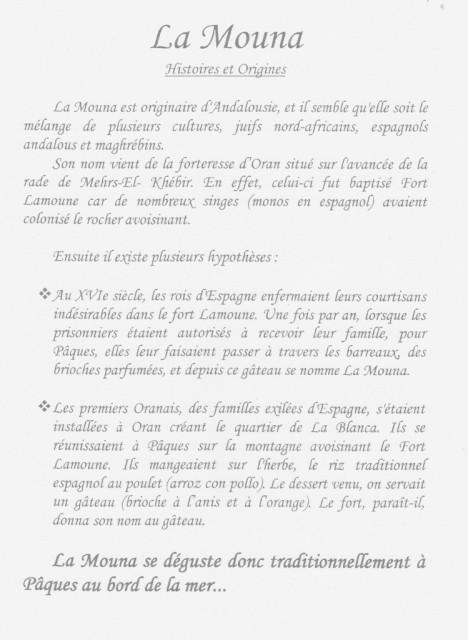 Histoire de la Mouna
