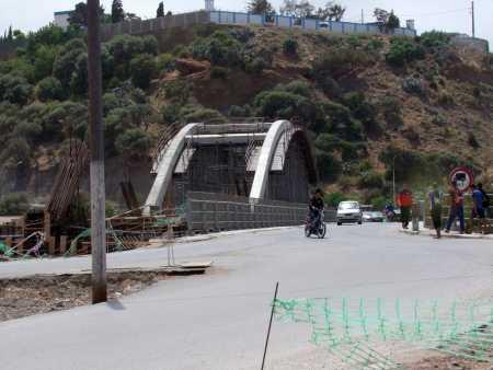 La construction du nouveau pont sur l'Oued Allalah