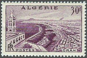 Timbre d'ALGERIE ORAN