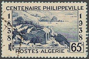 1838 - 1938 Timbre du centenaire de Philippeville
