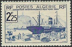 ALGERIE - 1939 Exposition internationale de NEW YORK