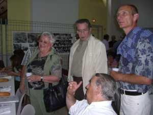 Magali BOISSON son mari Lucien ROUBELAT son gendre et Jacky TORREGROSSA (assis)