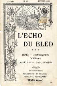 1935 l'Echo du Bled