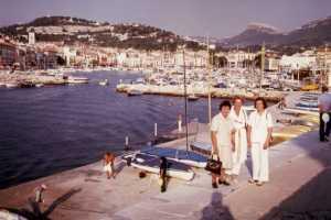 Cassis 1978 --- Emma BERTONA Rose Marie WERY Christiane BERTONA