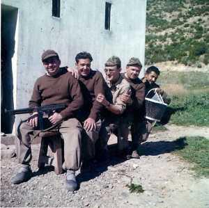 21 Fevrier 1960 ---- Jean Pierre BERGONZOLI Jean GRACIA Georges XIMENES Guy WERY CHAIBI