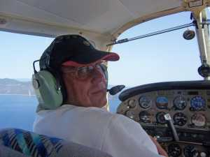 2009 - Daniel WERY au-dessus de la Corse