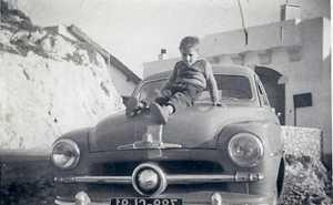 Janvier 1956  Daniel WERY sur la Vedette familiale