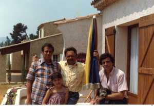 """La Ciotat Mai 1980 Chez Guy et """"Rosette"""" --- Daniel WERY S. WERY Guy WERY Jean Marie WERY Pitchounette"""