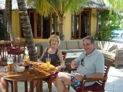 Nicole et Jean Marie WERY Mars 2009 hotel Dinarobin Ile Maurice