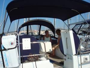 Photo-titre pour cet album: Le voilier d'André et Claude SUIRE  au Cap d'Agde