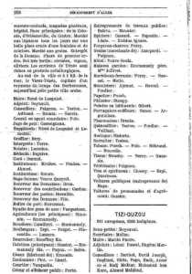 Annuaire de TENES en 1880