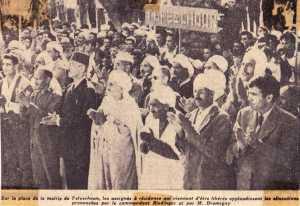 13 Mai 1958 TEFESCHOUN ---- Commandant RIEDINGER Mr DROMIGNY