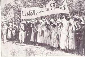 une manifestation en Kabylie