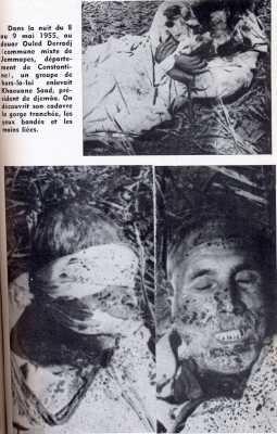 9 MAI 1955 Assassinat de KHAOUANE Sadd Douar Ouled DERRADJ CONSTANTINOIS