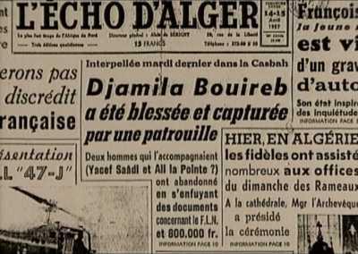 14 AVRIL 1957 ---- Arrestation d'une poseuse de bombes