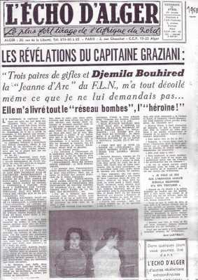 11 Avril 1958 ---- Djemila BOUIREB ----  Liste des victimes - 1958